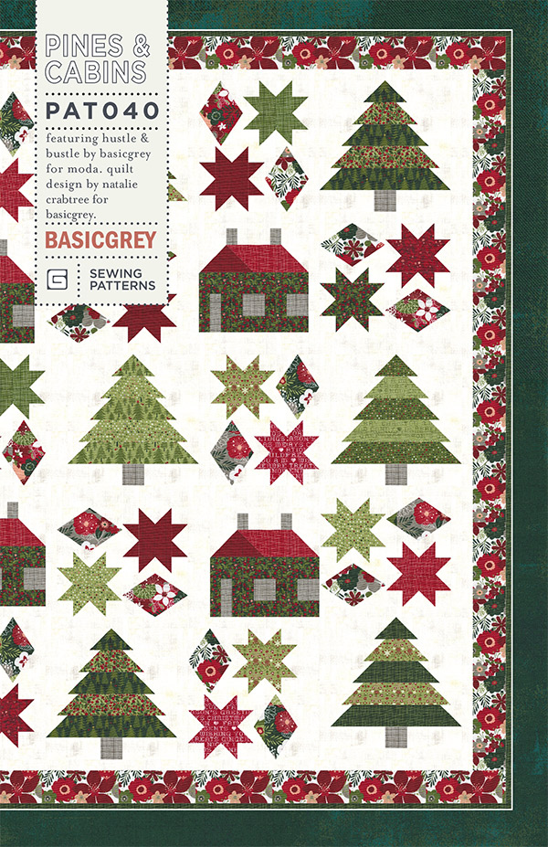 Pines and Cabin (FQ friendly) pattern
