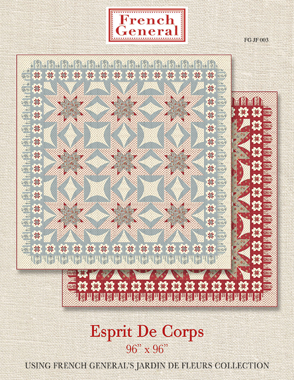 Esprit De Corps French General Pattern, A & B Version, 96 x 96, designed by French General