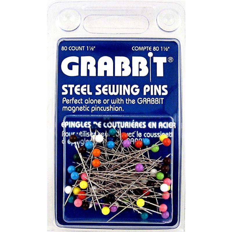 Grabbit 1 1/2 Steel Pins 80 ct