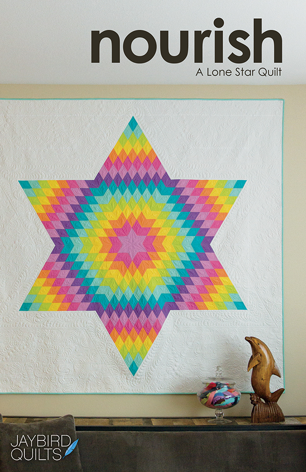 JBQ 177 Nourish Lone Star Quilt Pattern by Jaybird Quilts