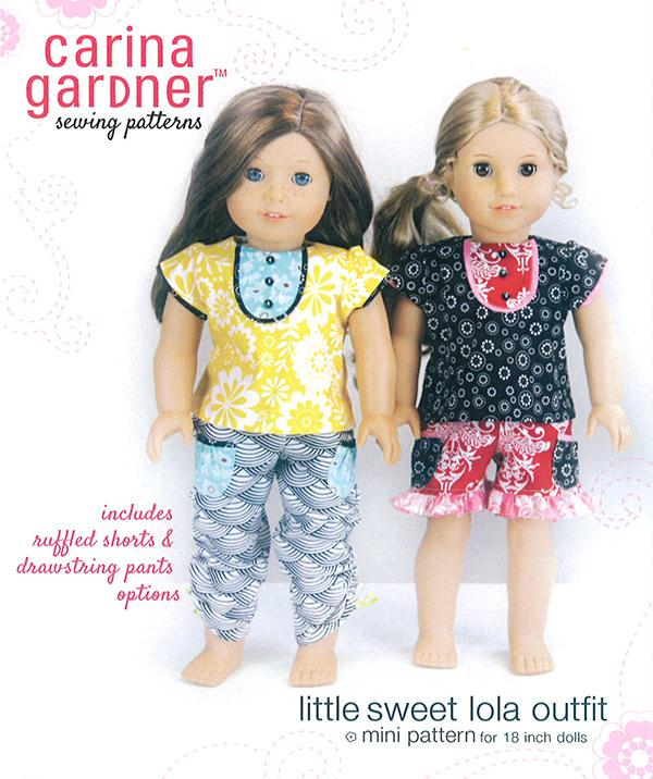 Carina Gardner Sewing Patterns: Little Sweet Lola Outfit/Doll