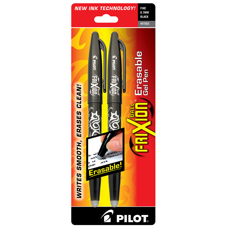Frixion Ball Gel Pen Black  2 pk