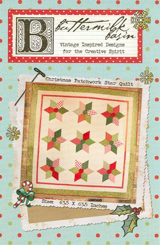 Christmas Patchwork Star Quilt * Pattern