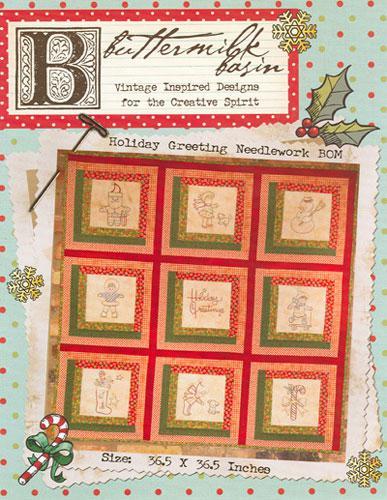 Holiday Greeting Needlework BOM * Pattern