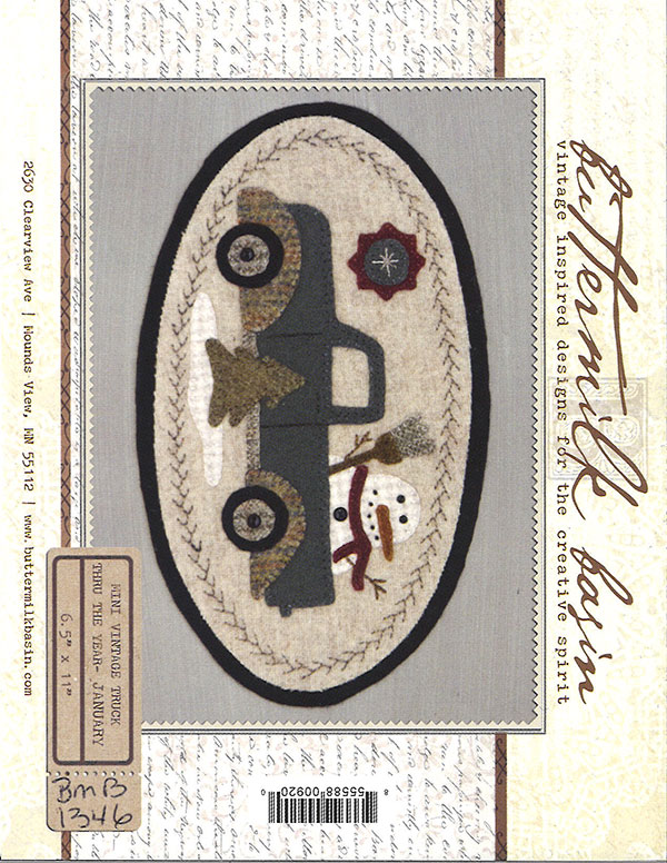 Mini Vintage Truck Thru Year -January Wool Kit