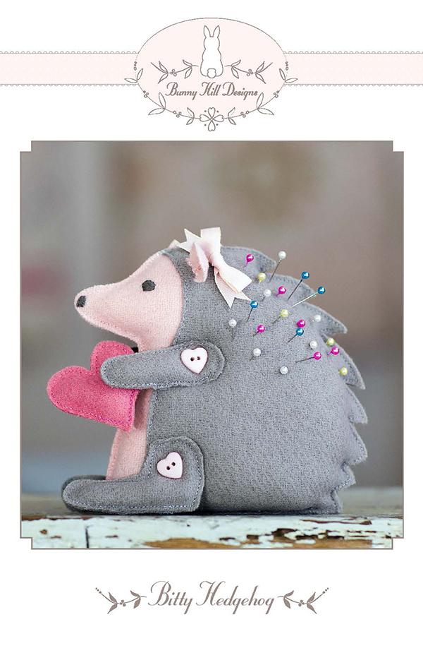 PT W Bunny Hill Designs Bitty Hedgehog Pincushion
