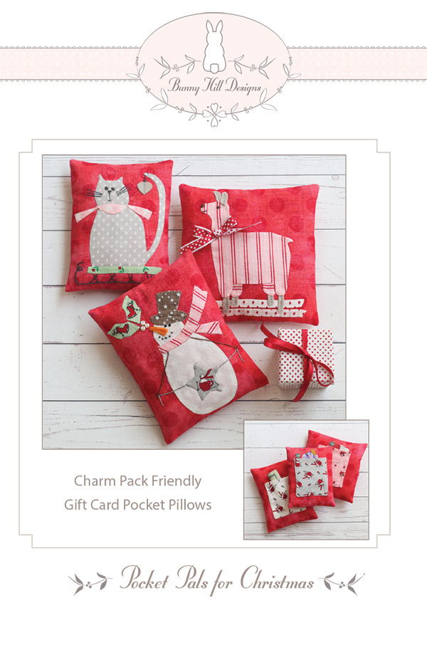 PT S Bunny Hill Designs Pocket Pals For Christmas