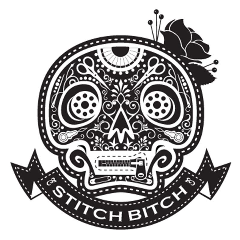 Stitch Bitch - White - Vinyl Window Decal