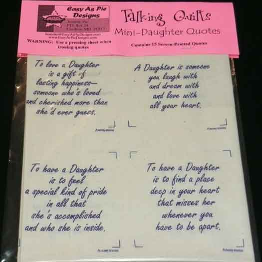 Talking Quilts-Daughter