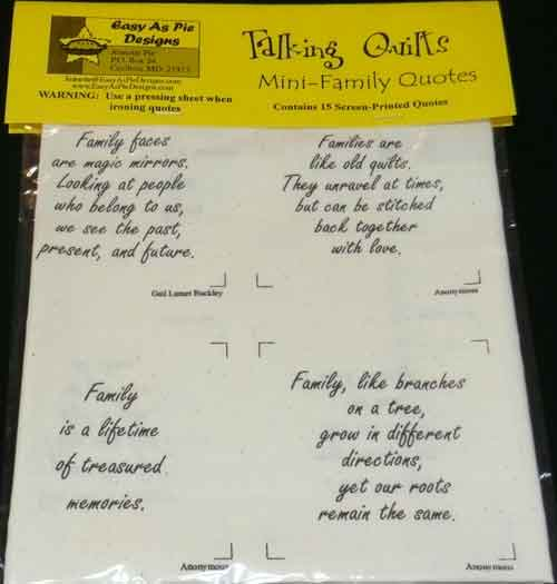 Talking Quilts-Family
