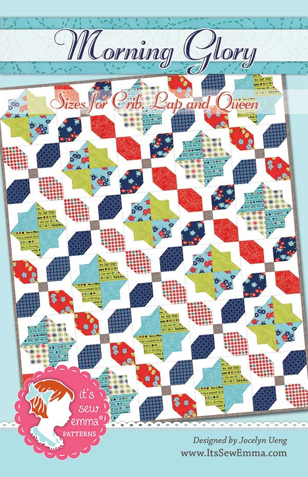 ISE 168 Morning Glory Multi size Quilt Pattern by ItsSewEmma