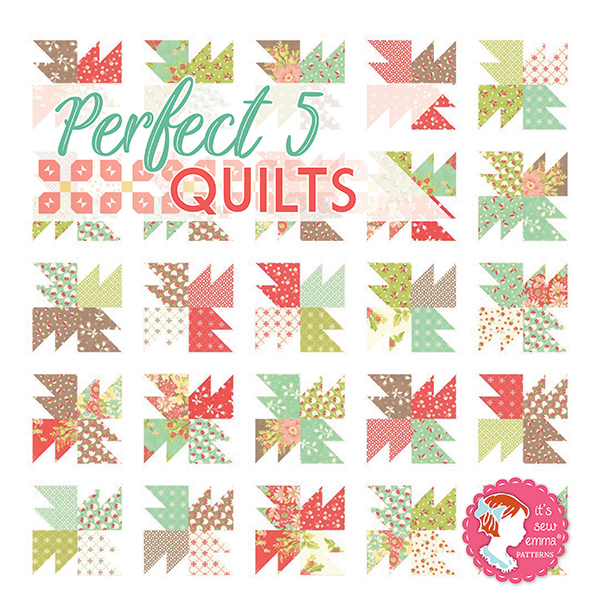 Perfect 5 Quilts Book by It's Sew Emma