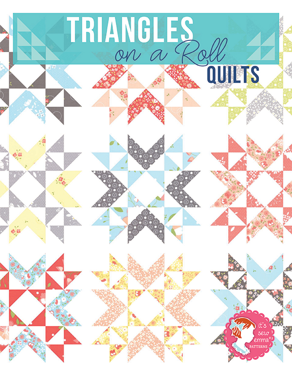 Triangles On A Roll Quilts Book, 16 half square triangle quilts