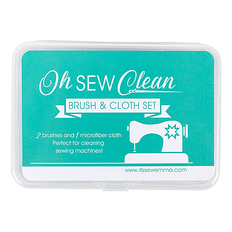 Oh Sew Clean Brush & Cloth Set