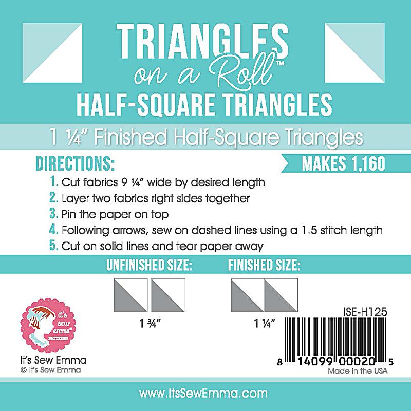 Triangle On A Roll Half Sq 1.25