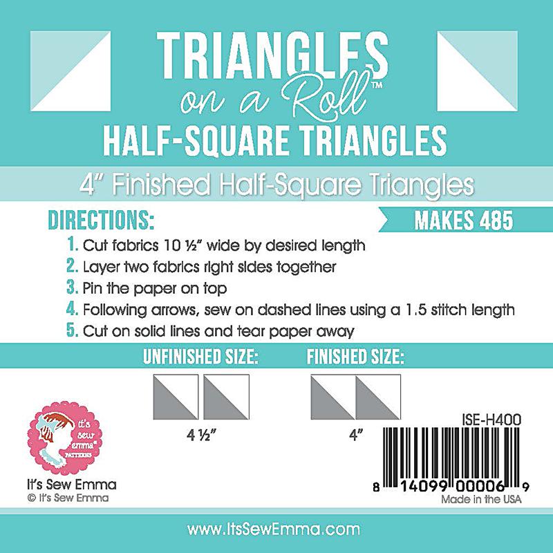 Triangle on a Roll Half Sq 4