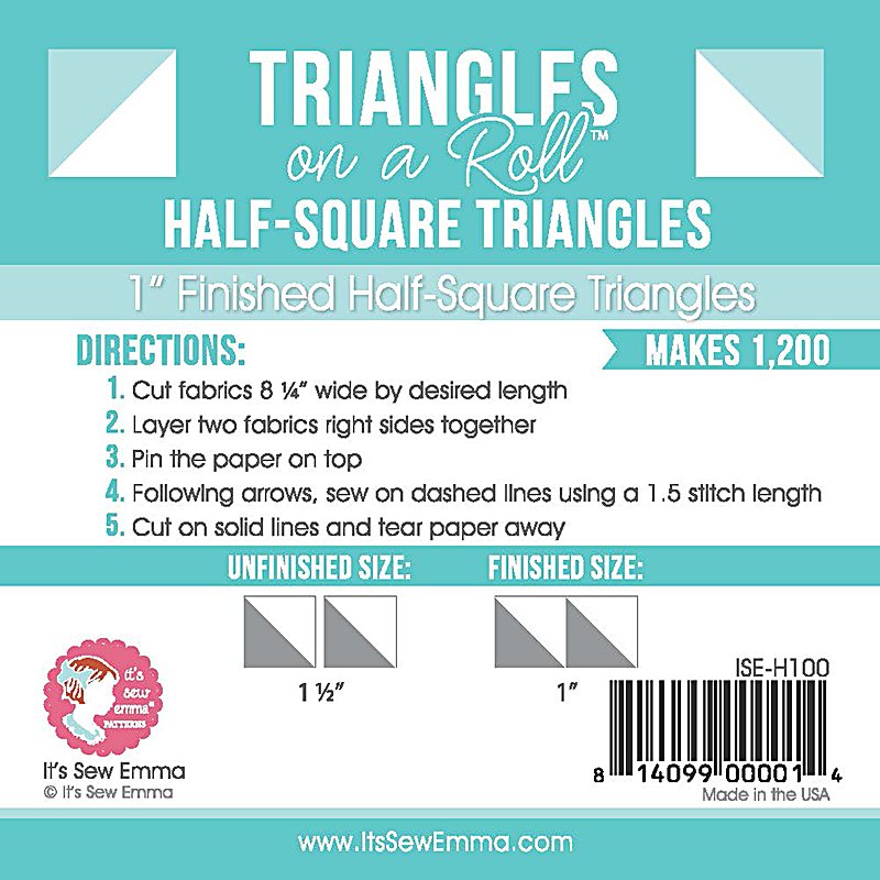 Triangle On A Roll Half Sq 1
