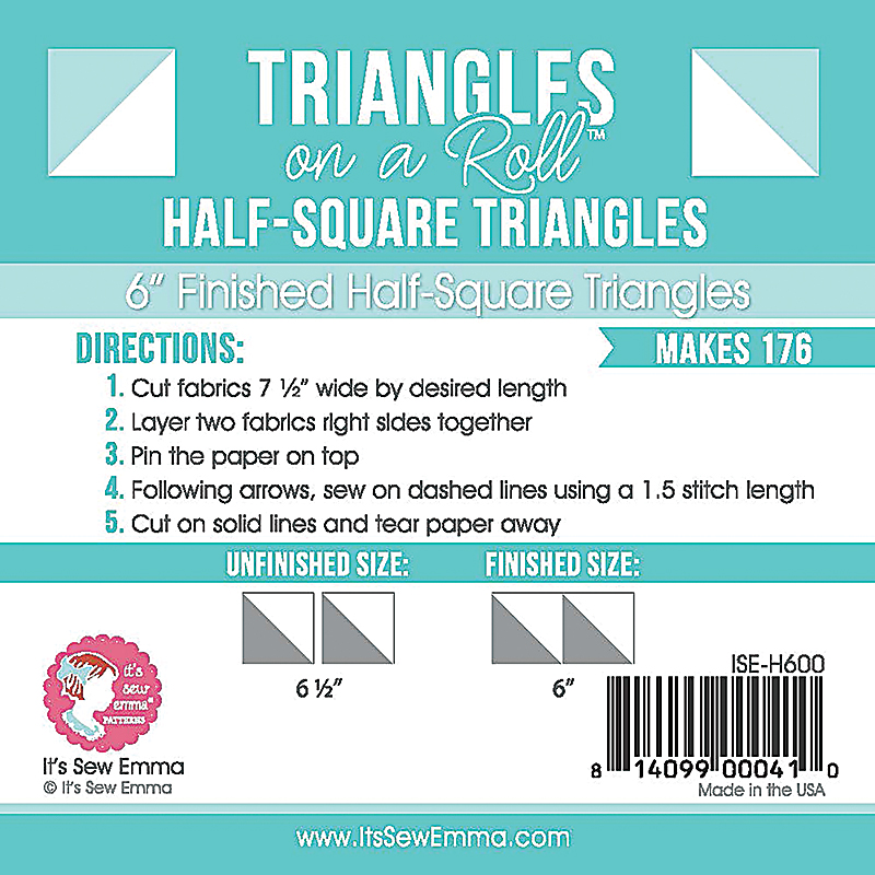 Triangle On A Roll Half Sq 6