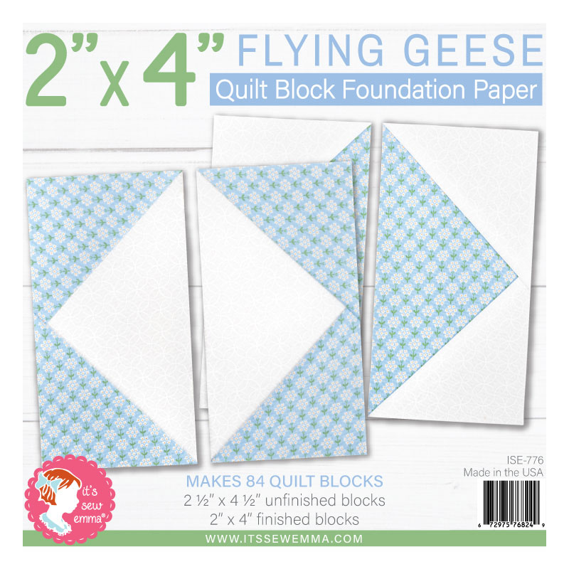 It's Sew Emma - 2 x 4 Flying Geese Foundation Paper