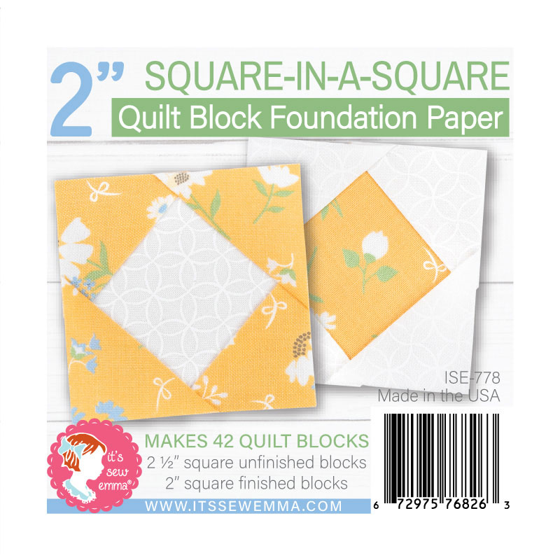 2 Square-In-A-Square Foundation Paper by Its Sew Emma