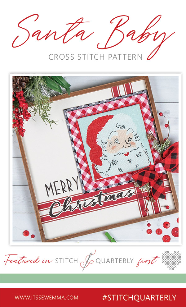 PT CS It's Sew Emma Santa Baby Cross Stitch