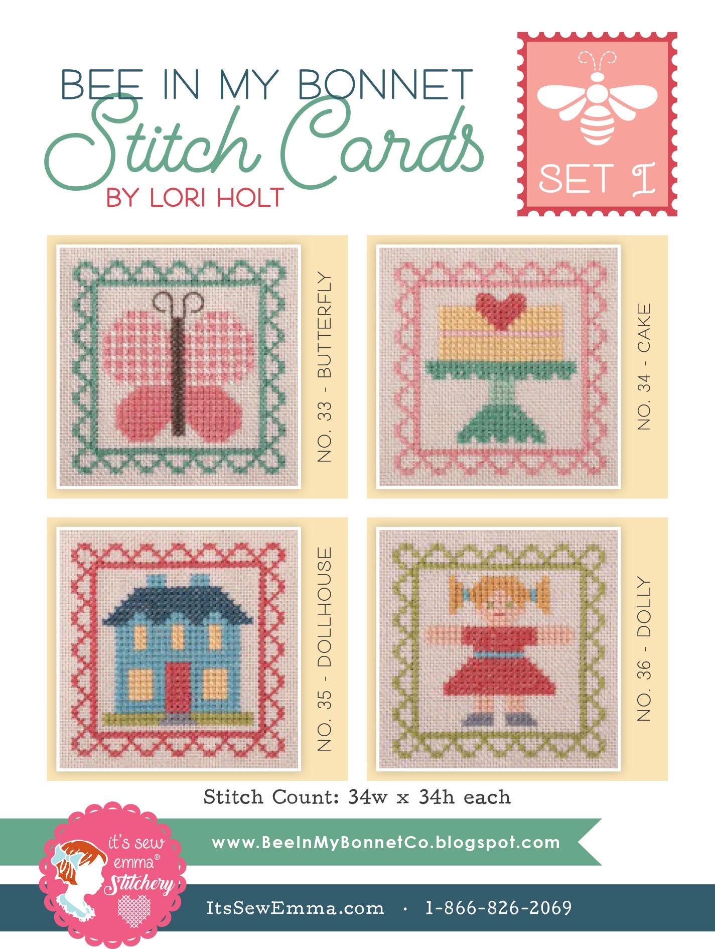 Bee In My Bonnet Stitch Cards Set 1 by Lori Holt of Bee In My Bonnet Co/It's Sew Emma