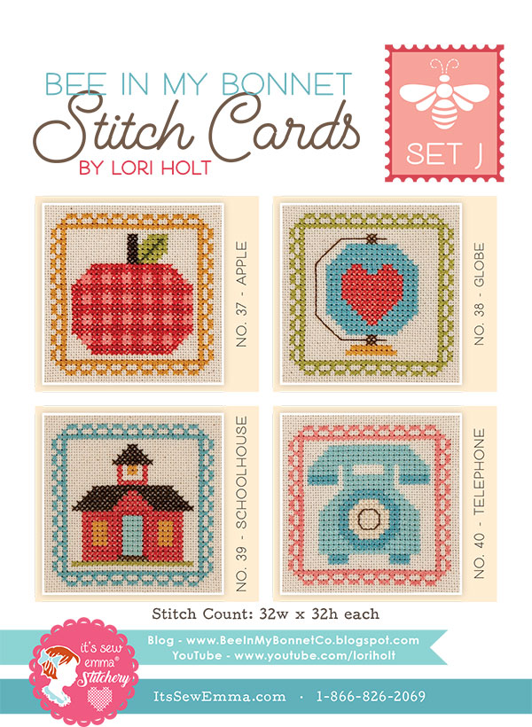 Bee In My Bonnet Stitch Cards J