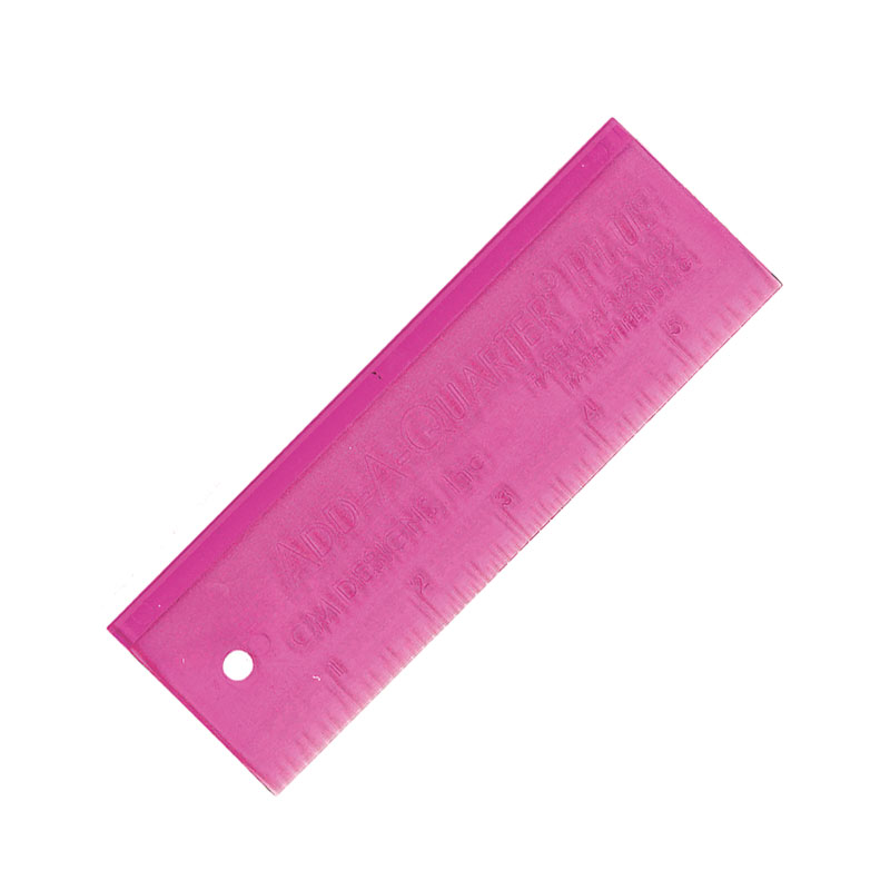 Add-A-Quarter Plus Ruler 6 - Pink
