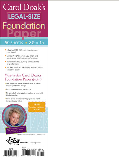 Carol Doak Foundatn Papr 8.5x14