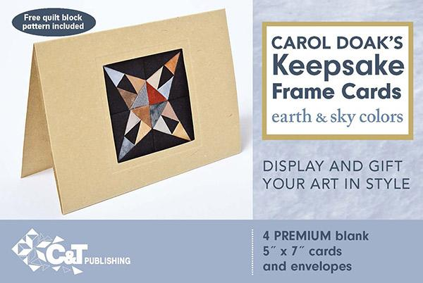 Carol Doaks Keepsake Frame Cards -Earthy Sky 4ct