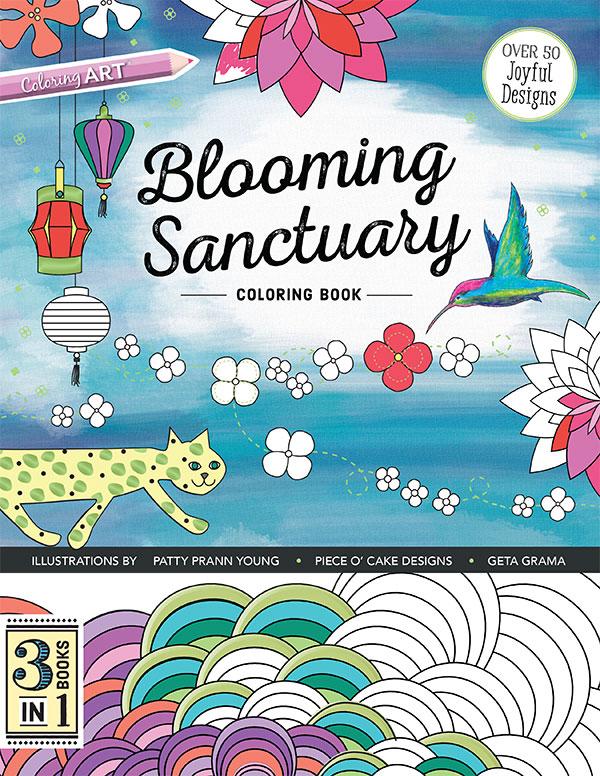 Blooming Sanctuary Coloring Bk