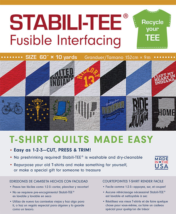 StabiliTee Fusible 60 Wide T Shirt Quilts Made Easy