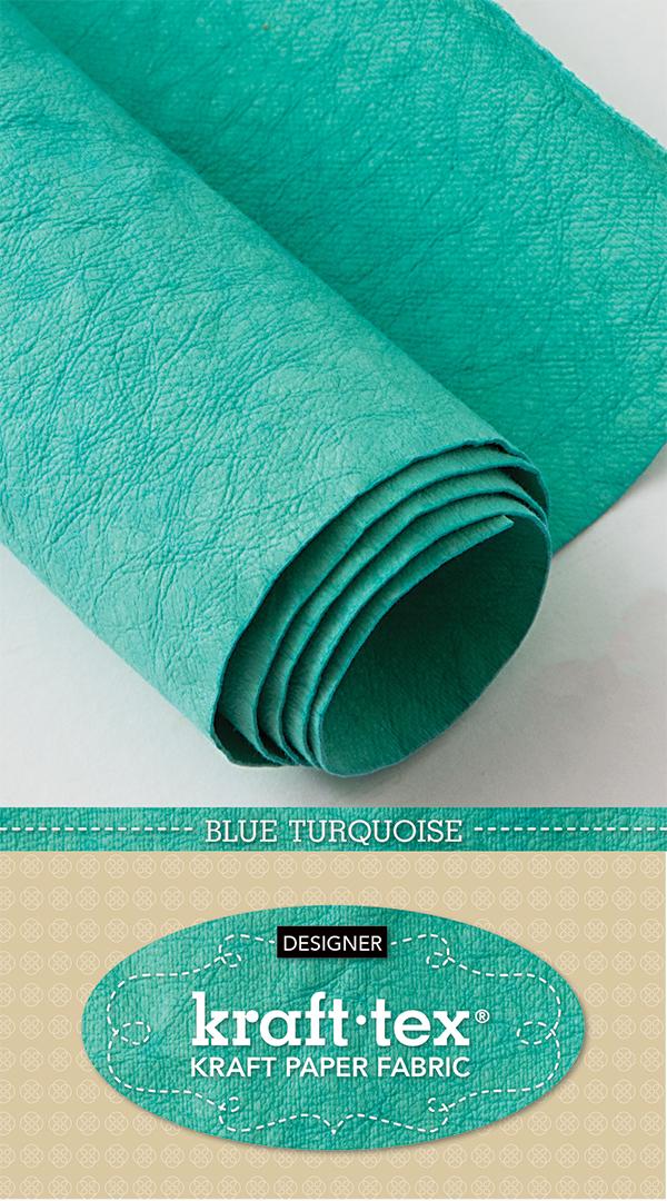 Kraft Tex Designer Blu Turquois