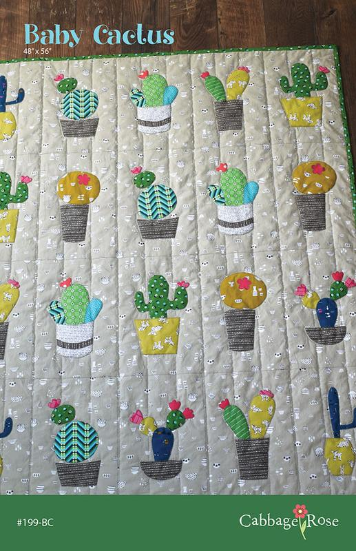 Baby Cactus Quilt Pattern by Cabbage Rose
