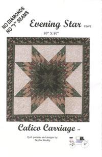 Evening Star Quilt Pattern - Makes 80 x 80 Quilt