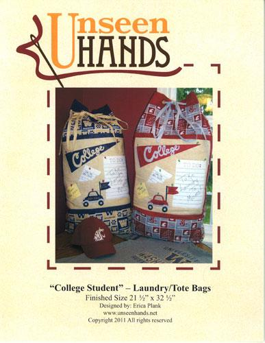 College Student Laundry Tote Bag by Unseen Hands