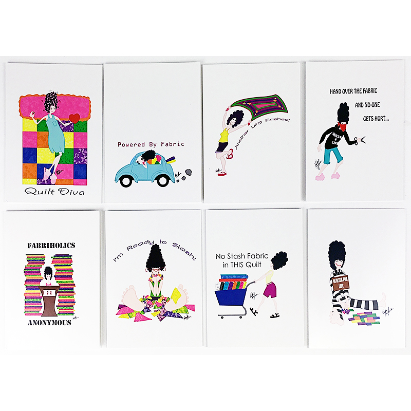 Fabby Note Card Set 8 Designs/Cards