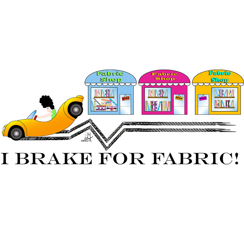 Sticky Note Brake For Fabric