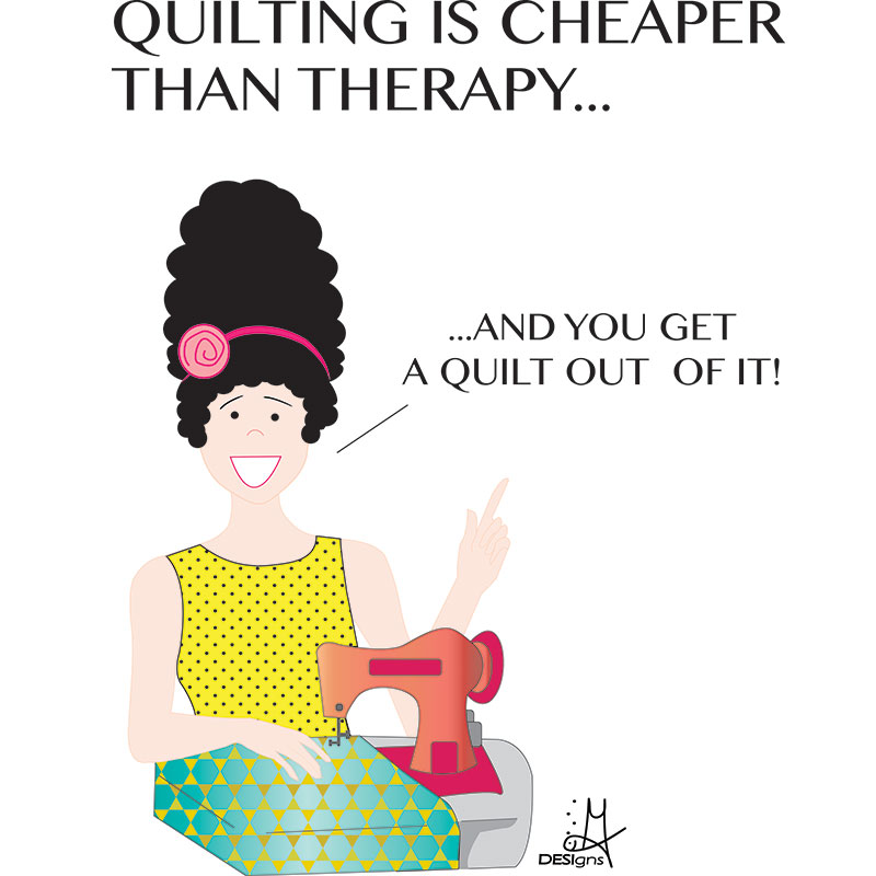 Quilting is Cheaper - Sticky Notepad - FF544