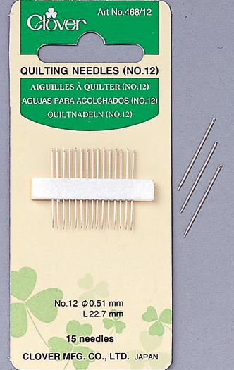 Clover - Quilting Needles Sz 12