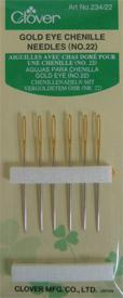 Eye Chenille Needles Gold #22