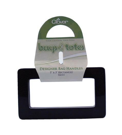 Purse handles, black rectangular shape