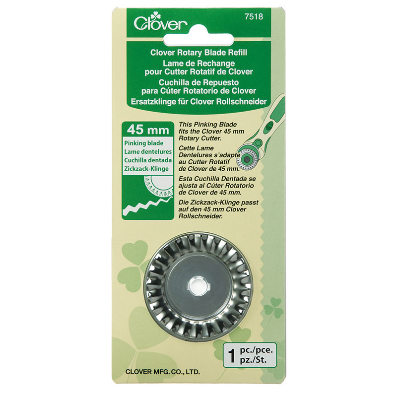 Clover Rotary Cutter Blade - Pinking - 45mm 1pc