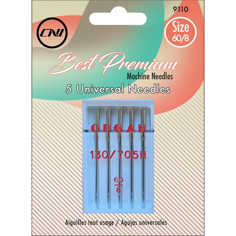 Clover Universal Machine Needles 60/8, 5pk