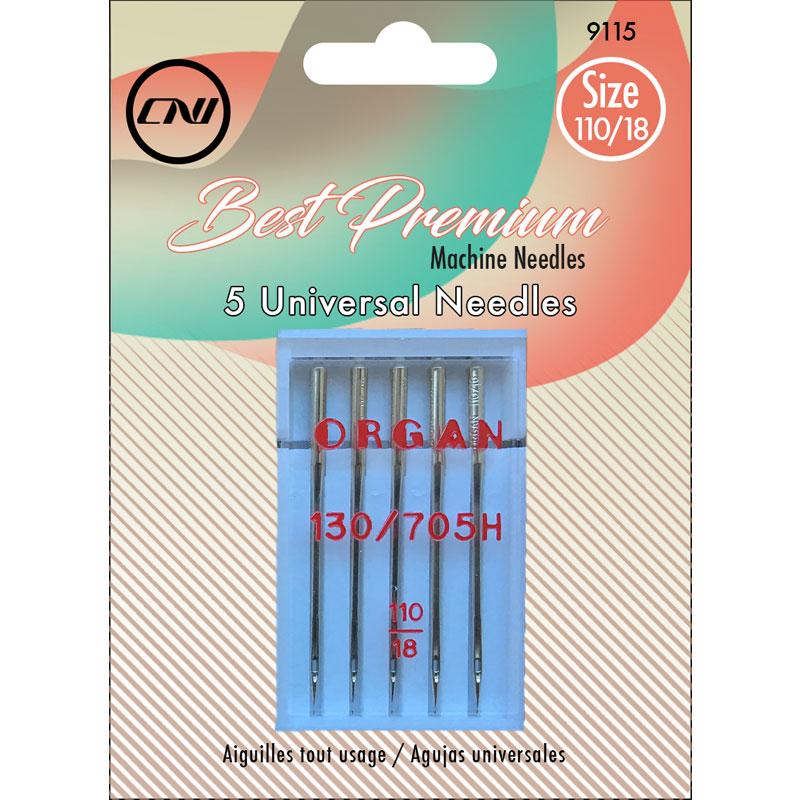 Clover Universal Machine Needles 110/18, 5pk