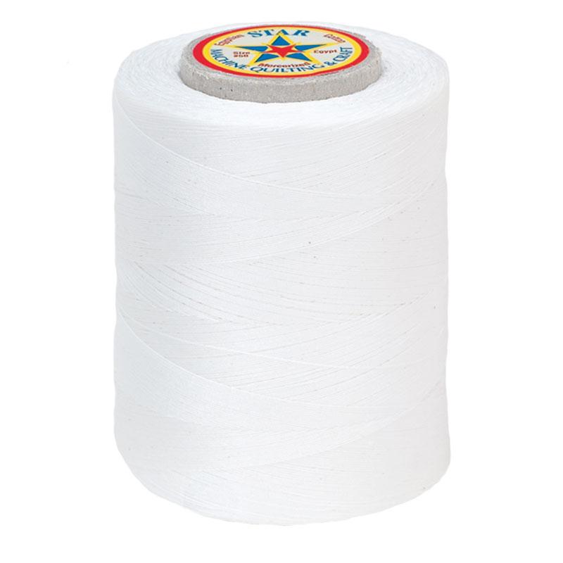 Star Mercerized Cotton Thread 1200yd #1 - White