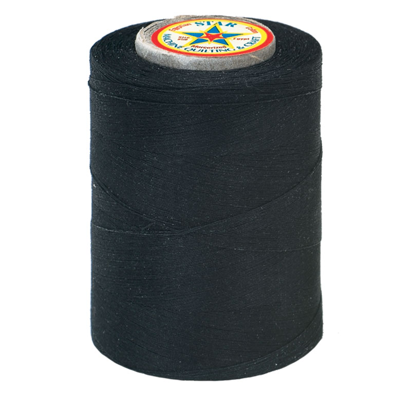 Star Mercerized Cotton Thread 1200yd #2 - Black