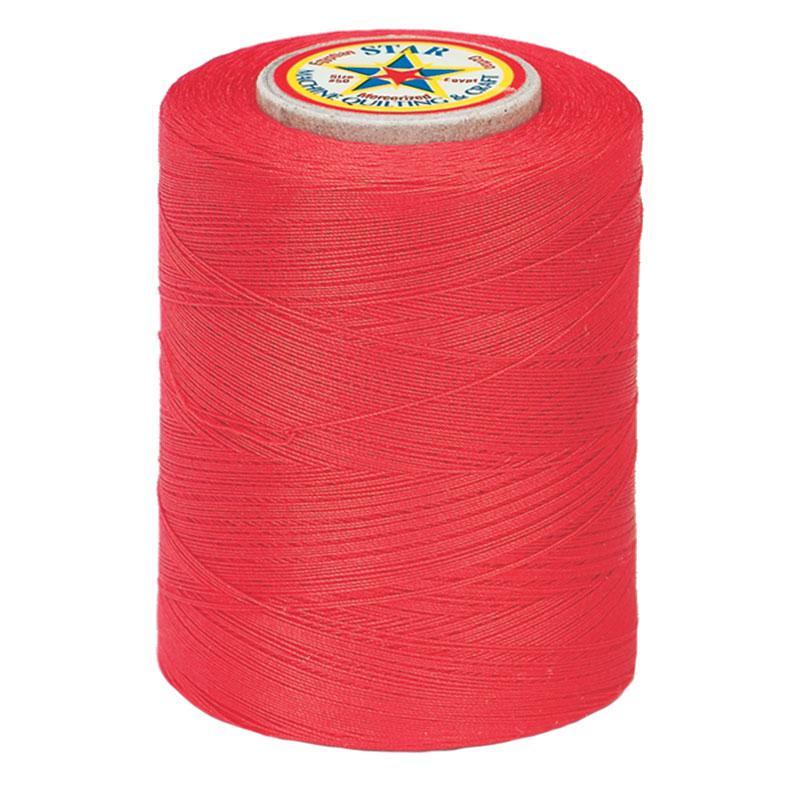 Star Mercerized Cotton Thread 1200yd #128A - Atom Red