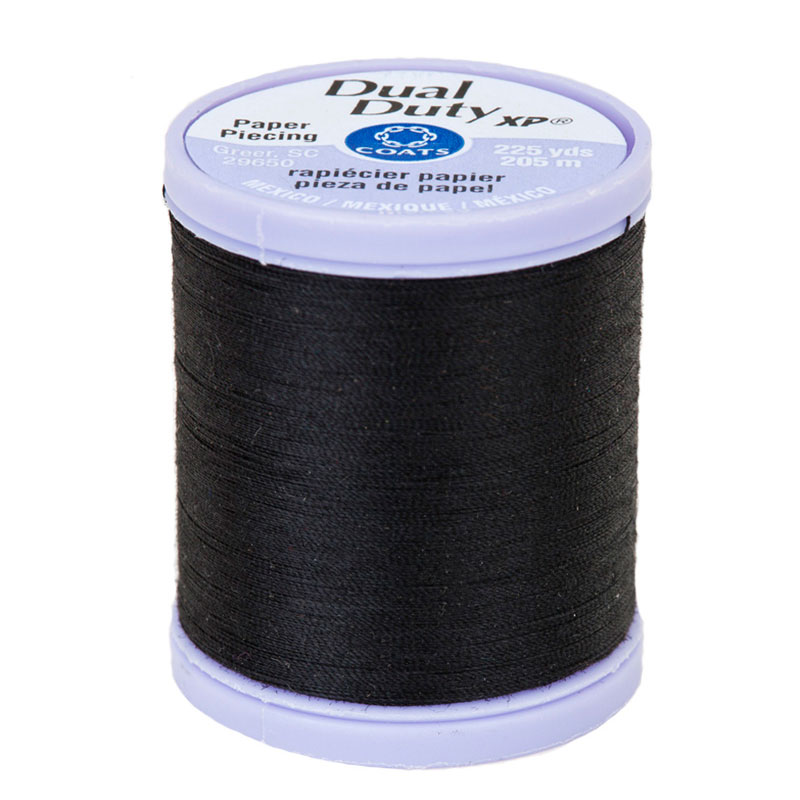 Dual Duty XP Paper Piecing Thread/Black - Coats/Clark - S942 0900