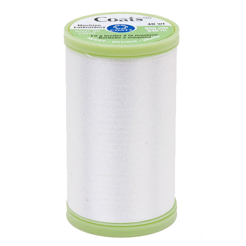 Machine Embroidery 600yd White